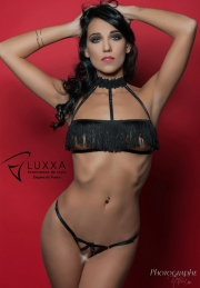 Body Lingerie Luxxa BODY OUVERT CAGE A FRANGES